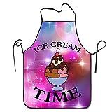 ice cream apron - Starphoenix Unisex Cartoon Ice Cream Time Durable Unisex Grilling Apron