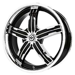 "Black Ice Alloys Sigma Black/Chrome Wheel with Spokes and Lip (18x7.5""/4x100 mm)"