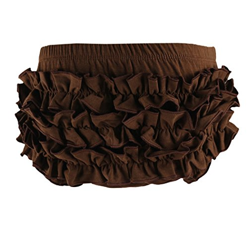 Wennikids Baby Girl's Cotton Shorts and Diaper Cover Bloomers Medium Brown -