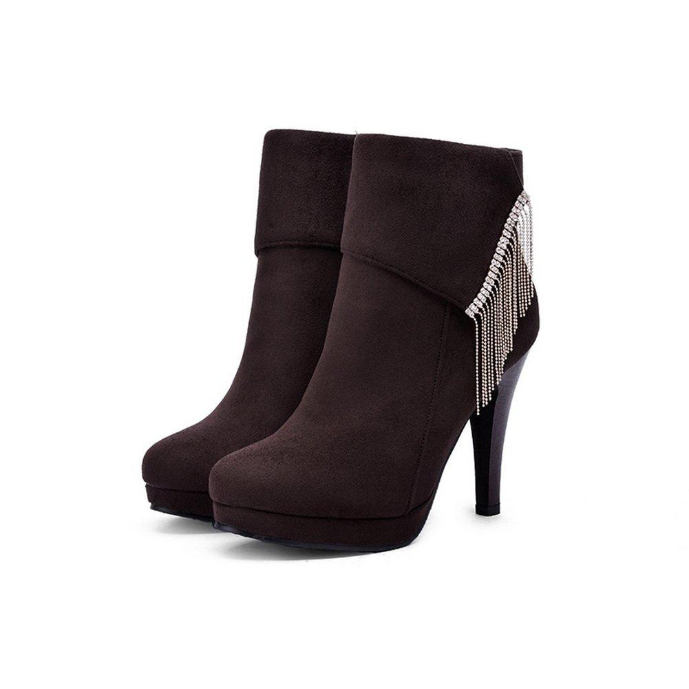 AdeeSu Womens Slip-Resistant Casual Dress Slip-Resistant Womens Comfort Urethane Boots SXC01697 B077TWKT8C Boots ff2d4d
