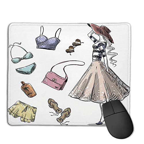 Mouse Pad Custom,Non-Slip Rubber Mousepad,Heels and Dresses,Collection of