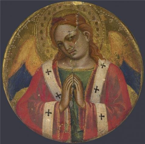 Oil Painting 'Niccolo Di Pietro Gerini-Frame Roundel,probably 1387' 10 x 10 inch / 25 x 26 cm , on High Definition HD canvas prints is for Gifts And Bed Room, - San Centers Francisco Shopping