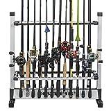 KastKing Rack 'em up Fishing Rods Holder Portable Aluminum 12- 24 Fishing Rods Rack Great for Storing Fishing Poles on Boat, Truck, or At Home or Garage