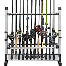 KastKing Fishing Rod Rack – Perfect Fishing Rod Holder - Holds Up to 24 Rods - 24 Rod Rack for All Types of Fishing Rods and Combos/ 12 Rod Rack for Freshwater Rods - ICAST Award Winner