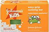 JOHNSON'S Kids Easy-grip Sudzing Bar Watermelon Explosion 2.46 oz (4 Pack)