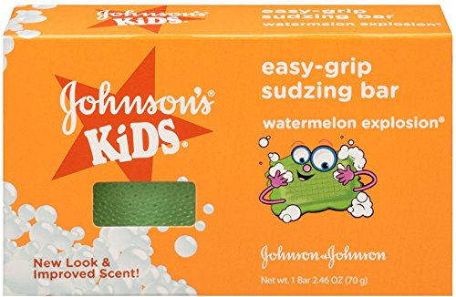 JOHNSON'S Kids Easy-grip Sudzing Bar Watermelon Explosion 2.46 oz (12 Pack) by Pharmapacks