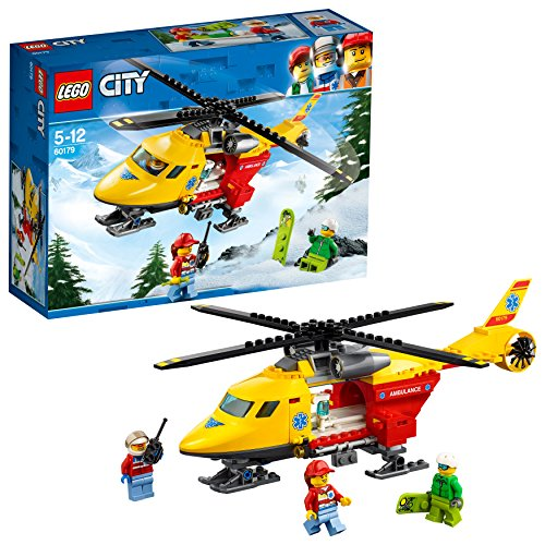 LEGO City Great Vehicles Ambulance Helicopter Toy, Build & Play Sets for Kids