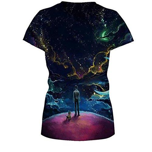 Elakaka Women's 3D Printing Leisure Slim Short Sleeve T-shirt£¨285 S£