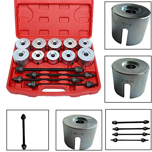 Qp-SUNROAD 24pcs Universal Press and Pull Sleeve Kit Bearing Seal Bush Insertion Sleeve Extraction Removal Tool Set w/Case by Qp-SUNROAD (Image #2)