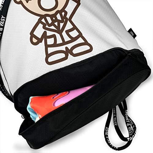 ナップサック ジムサック バックパック 巾着袋 みんなのたあ坊 リュックサック カジュアル 旅行 アウトドア 引きひも袋 通勤 水泳 スポーツバック キャンプ 男女兼用 濡れ物用 防水 部活用 プレゼント 靴入れ 軽量 乾湿分離