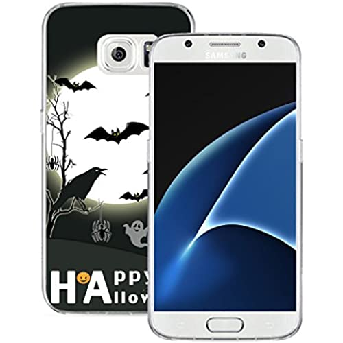 S7 Case MURQ Apple Samsung Galaxy S7 Case Cover Silicone Rubber Protective Halloween Bat Design Sales