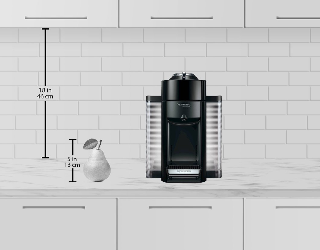 Nespresso A+GCC1-US-BK-NE VertuoLine Evoluo Deluxe Coffee & Espresso Maker with Aeroccino Plus Milk Frother, Black (Discontinued Model) by Nespresso (Image #2)