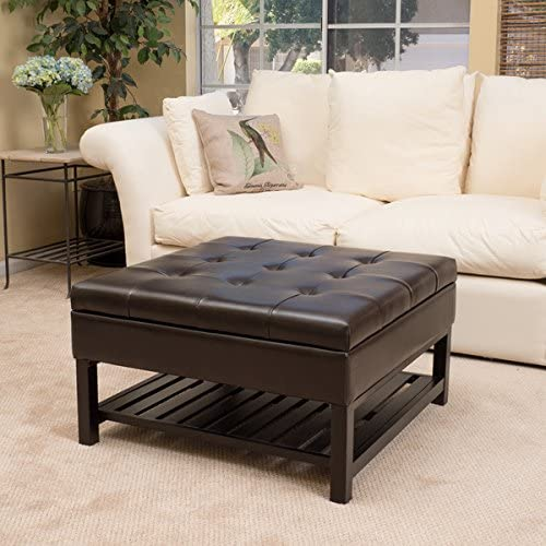 Christopher Knight Home Miriam Wood Square Storage Ottoman Bench