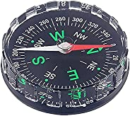 Compass for Kids Mini Compass for Hiking Plastic Button Compass, Black Survival Compass