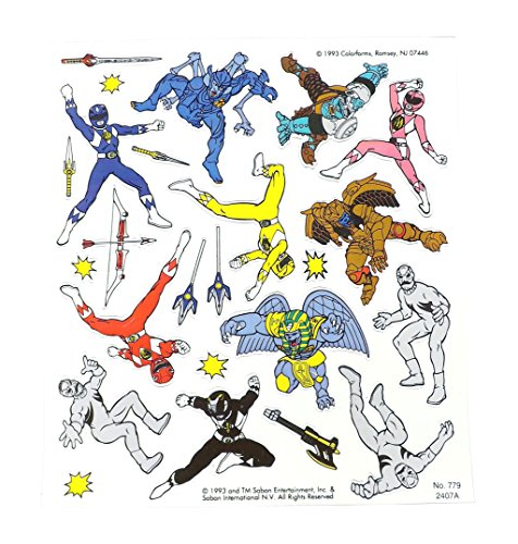 Mighty Morphin Power Rangers Colorforms Sticker (Power Ranger Stick)