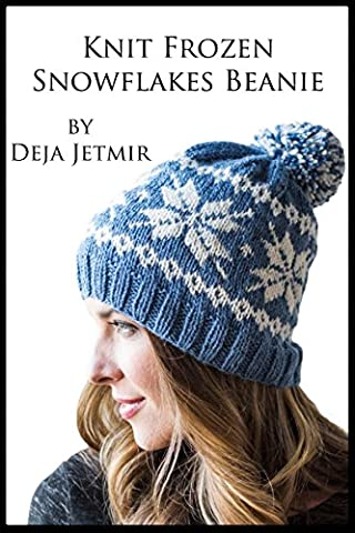 Knit Frozen Snowflakes (Knit Womens Beanie)