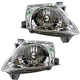 2000-2001 Mazda MPV Van Headlight Headlamp Halogen Composite Front Head Lamp Light Pair Set Left Driver AND Right Passenger Side (00 01)
