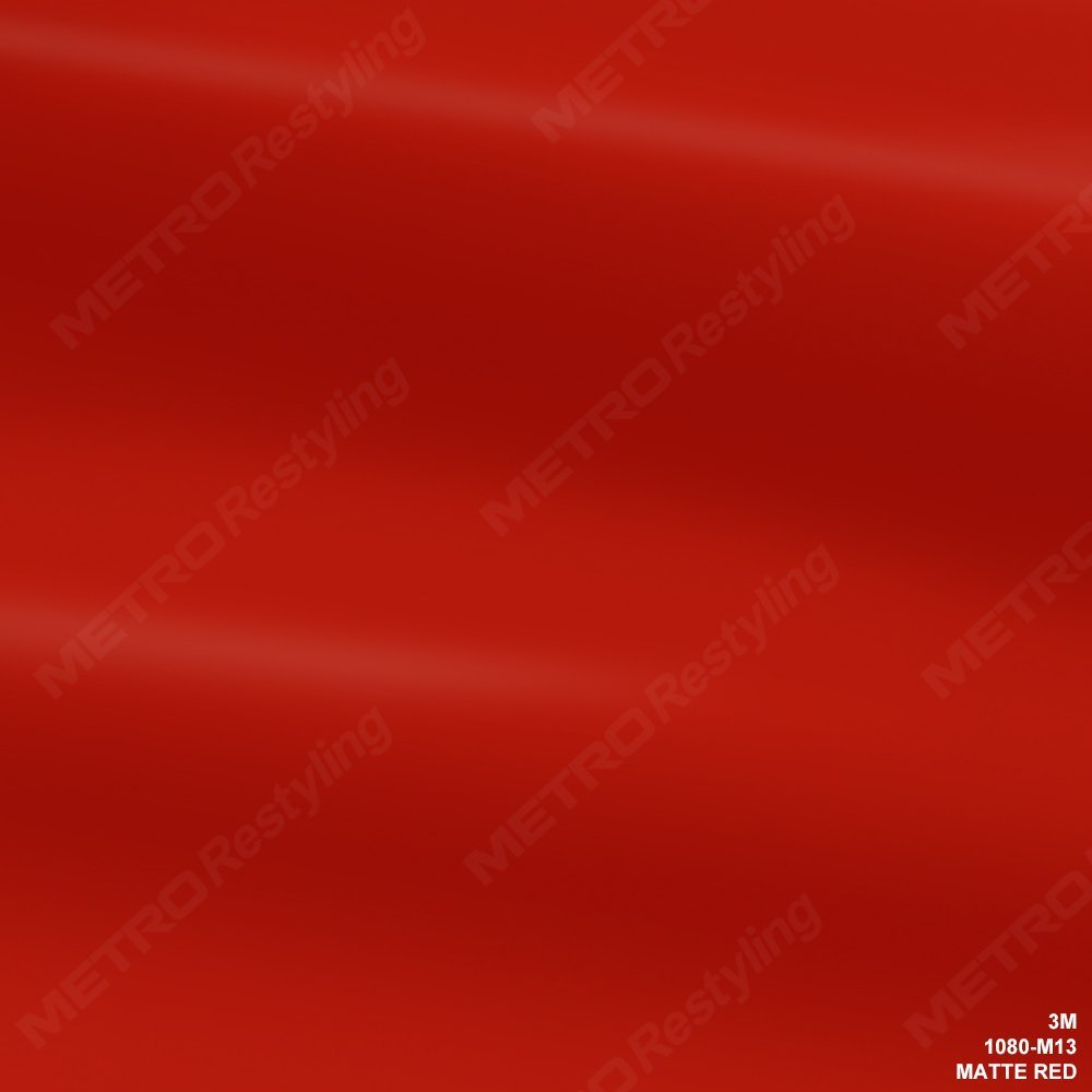 3M 1080 M13 MATTE RED 5ft x 2ft (10 Sq/ft) Car Wrap Vinyl Film
