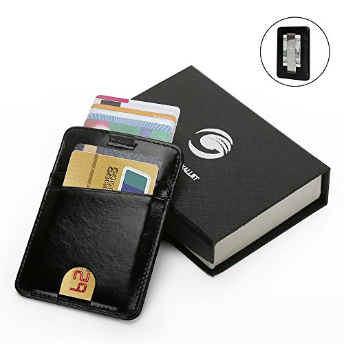 Wallets for Men with Money Clip-Mens Wallets-EGRD Slim Genuine Leather Front Pocket Wallets Credit Card Holder Sleeve-RFID Blocking(Leather Wallet Black) Photo #7