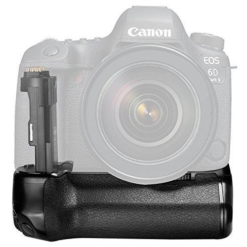 Neewer Pro Camera Battery Grip Replacement for Canon BG-E21 for Canon 6D Mark II DSLR Camera, Work with One or Two LP-E6 Rechargeable Li-ion Battery (Battery NOT Included)