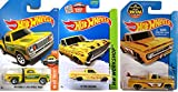 72 chevy toy truck - Trucks Yellow Hot Wheels Series #72 Custom '62 Chevy Pickup Surf Board City & 1978 Dodge Li'L Red Express #11 & '65 Ford Ranchero Pickup #212 3-Pack in Protective Cases