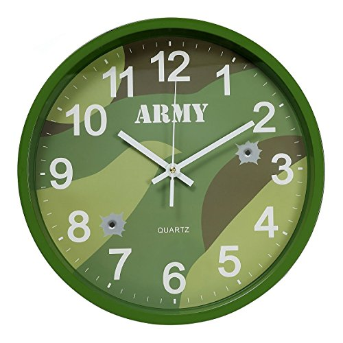 Kids Army Woodland Camo Clock