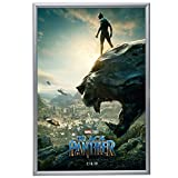 "Silver Movie Poster Frame 27x40 Inches, 1.2"" SnapeZo Profile, Front Loading Snap Display, Wall Mount, Professional Series"