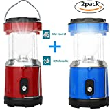 LED Camping Lantern-2 Pack Solar Camping Lantern for Swiftrans Ultra Bright Flashlights Portable Collapsible Camping Equipment for Survival, Emergence, Outdoor Hiking, Hurricanes, Storms, Outages