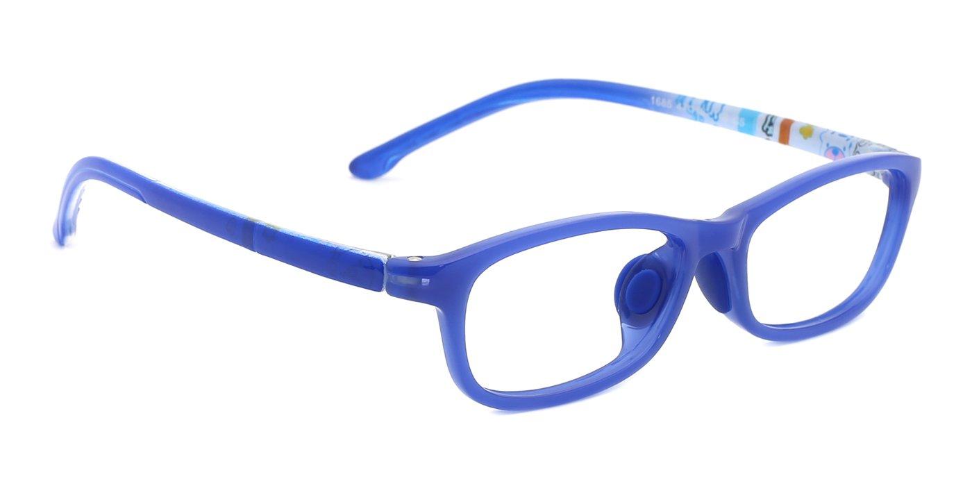 modesoda Classic Kids Non Prescription Glasses Frame,Rectangular Optical Eyeglasses Graffiti Arm for Girls Boys