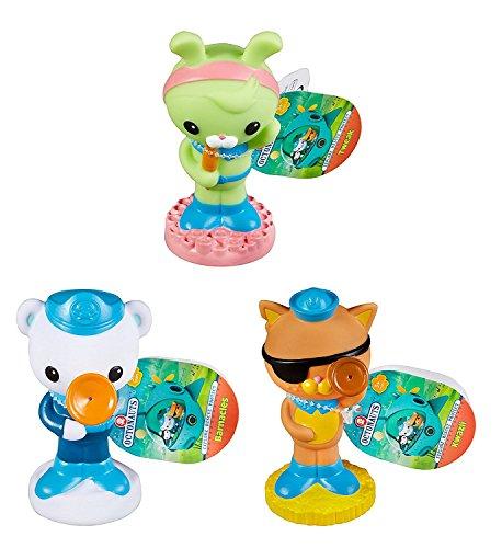 Octonauts Fisher-Price Bath Squirters Water Toy 3 Pack - Barnacles, Kwazii & Tweak S4 -