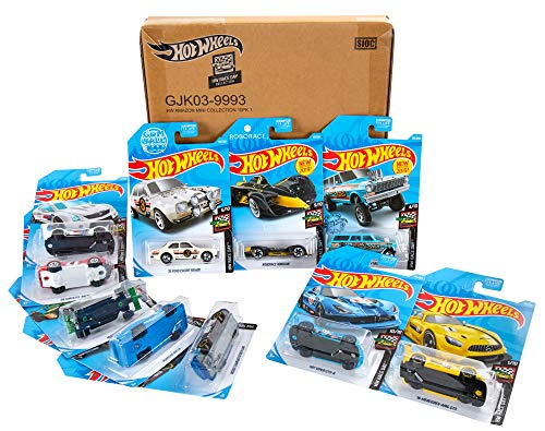 Hot Wheels Race Day 10-Pack Diecast Mini Collection [Amazon Exclusive]
