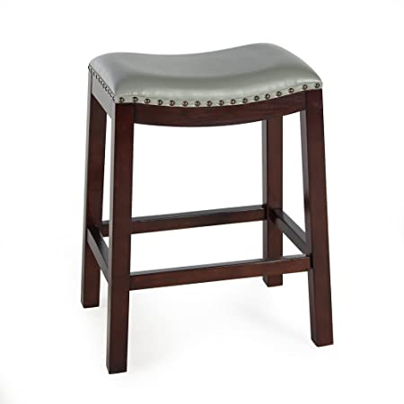 Counter Bar Stools Bistro Gray Backless Wood Chairs Pub Stool Kitchen and Dinningroom Seat Furniture