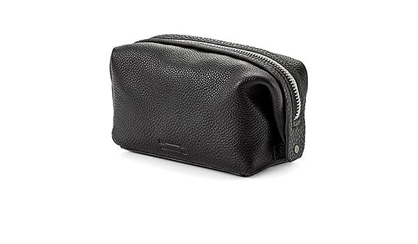 811d12634c Amazon.com   Uri Minkoff Black Deerskin Leather Simple Dopp Kit   Beauty