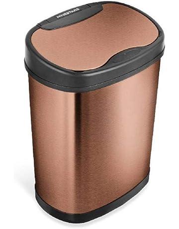 Dehouse 2 L Cubo de basura de pl/ástico con tapa negra
