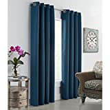 Commonwealth Thermalogic Darcy 84″ Grommet Curtain Panel in DK Teal Review