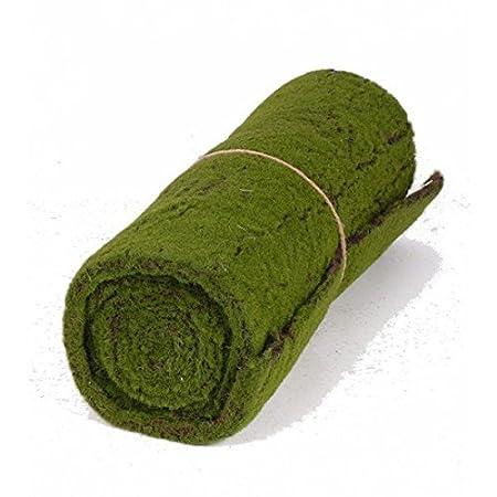 Artificial Moss//Decoration Ornament 3 ft x 11 // 97 x 29 cm artplants Decorative Fleece Mat of Moss Green-Brown