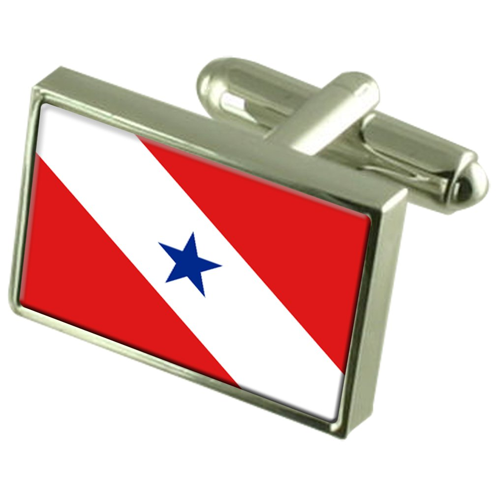 Par/á Flag Cufflinks Personalised Engraved Keepsake Box