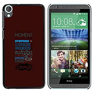 HTC Desire 820 , Radio-Star - Cáscara Funda Case Caso De Plástico (Abstract Typography)