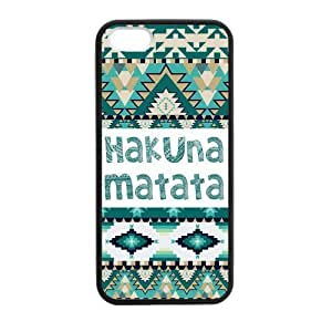 Rubber Hakuna Matata Turquoise Aztec Pattern 5sart167 high quality and reasonable price durability TPU case cover for apple (iphone5 iphone 5s) iphone 5 5s with black/white/clear custom background by liscasestore