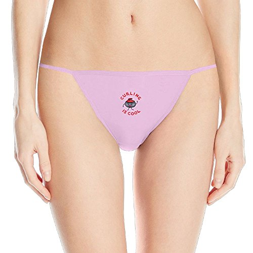 Madehappy Curling Is Cool .PNG Female Funny Logo Fashion Lady Panties Pink