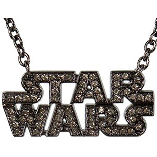 Star Wars Text Logo Necklace Gun Metal Rhinestone Goth Pendant Tattoo Costume Fashion for $<!--$14.11-->