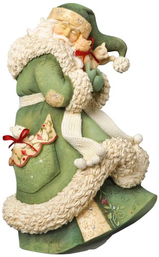 Amazon.com: Enesco Heart of Christmas Santa with Kittens Figurine ...