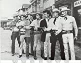 Old West Western 7 Stars Cowboys 1950s TV Classics Vintage Old Photo 8 x 10 Tin Sign