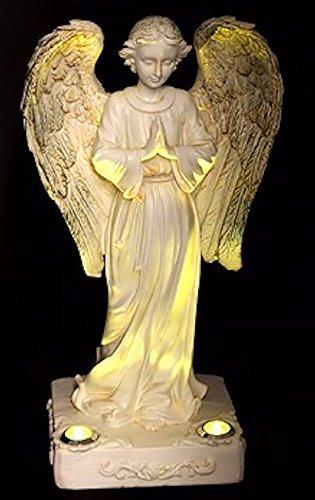 Beautiful Praying Solar Angels With 2 Yellow Led Solar