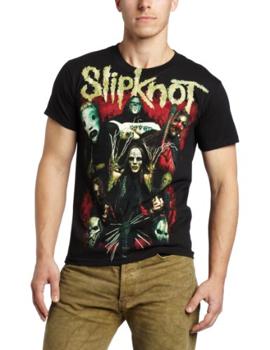 Bravado Men's Slipknot Come Play Dying T-Shirt, Black,X-Large