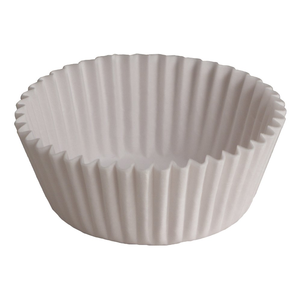 Hoffmaster 610010 Fluted Baking Cup, 1-Ounce Capacity, 3-1/2'' Diameter x 15/16'' Wall Height, White (20 Packs of 500)