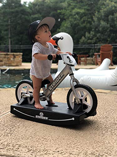 Strider - 12 Pro Baby Bundle with Balance Bike and Rocking Base, Ages 6 Months to 5 Years, Silver by Strider (Image #3)