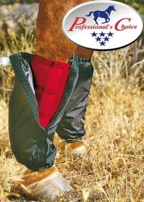 Professional's Choice Equine Sports Medicine Nylon Boot Covers, Pair (Medium, Black)
