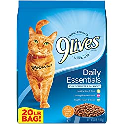 9Lives 20 Lb Daily Essentials Dry Cat Food, Large