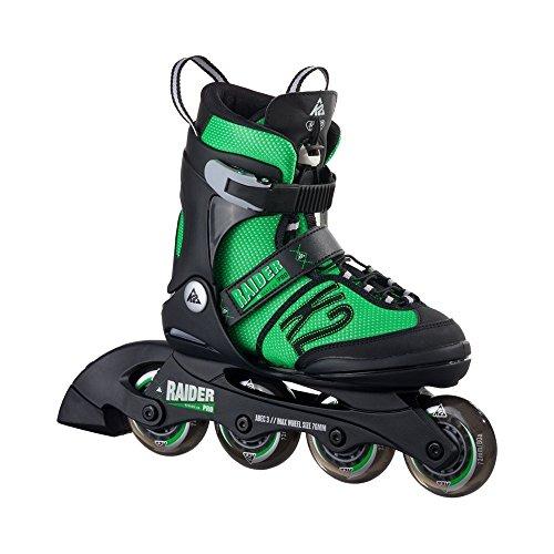K2 Unisex - Kinder Inline Skate Raider Pro, grün/schwarz, M (32 - 37), 30A0218.1.1